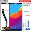 Nouvelle Pour Huawei Honor 7A 5.7 pouces d'affichage À CRISTAUX LIQUIDES de Huawei Honor 7A AUM-l29 AUM-L41 ATU-L11 D'assemblée de Convertisseur Analogique-Numérique d'écran tactile de Cadre