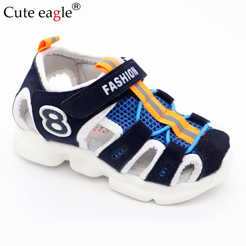 Boys And Girls Sandals Summer Brand Open Toe Toddler Shoes  Comfortable Net Surface Leather Sandals Baby Orthopedic Shoes New