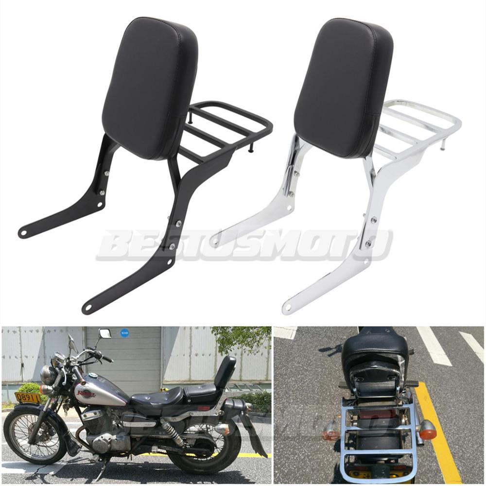 Motorcycle Detachable Rear Passenger Backrest Sissy Bar Luggage  Rack For Honda Rebel 250 CMX250 CMX250C CA250Seats