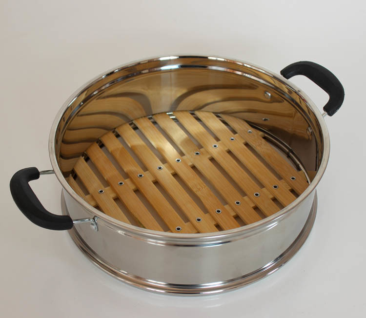 24cm 26cm 30cm 32cm 34cm 36cm Chinese Food Steamer Basket Stainless Steel Bamboo Dumplings Steamer Buns Mushiki 24CM To 36CM