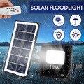 Светодиодные прожекторы на солнечных батареях наружные садовые Ландшафтные лампы водонепроницаемые настенные лампы прожектора с пультом ...