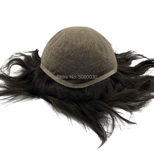 Super fine 100% remy human hair Breathable Full swiss lace toupee for bald men
