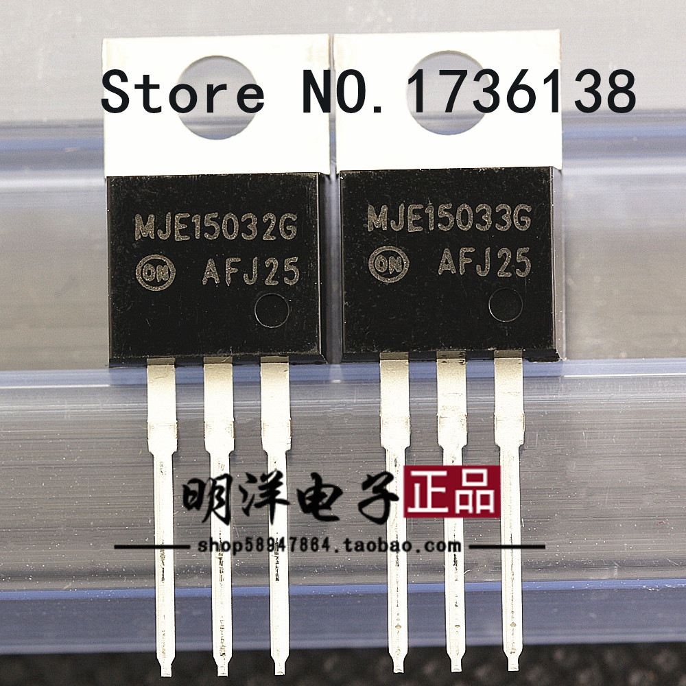 MJE15032G MJE15033G Transistor NPN PNP 250V 8A ONS set of 4