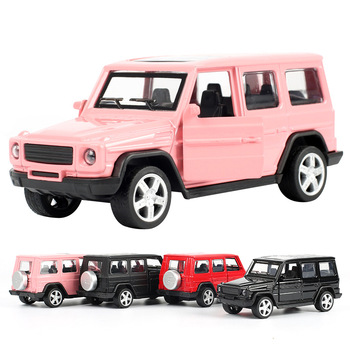 1:32 Pull Back Simulation SUV Car Model Alloy Metal Diecast & Off-road Toy Vehicles Cake Decoration Collection Toy For Boy S1083