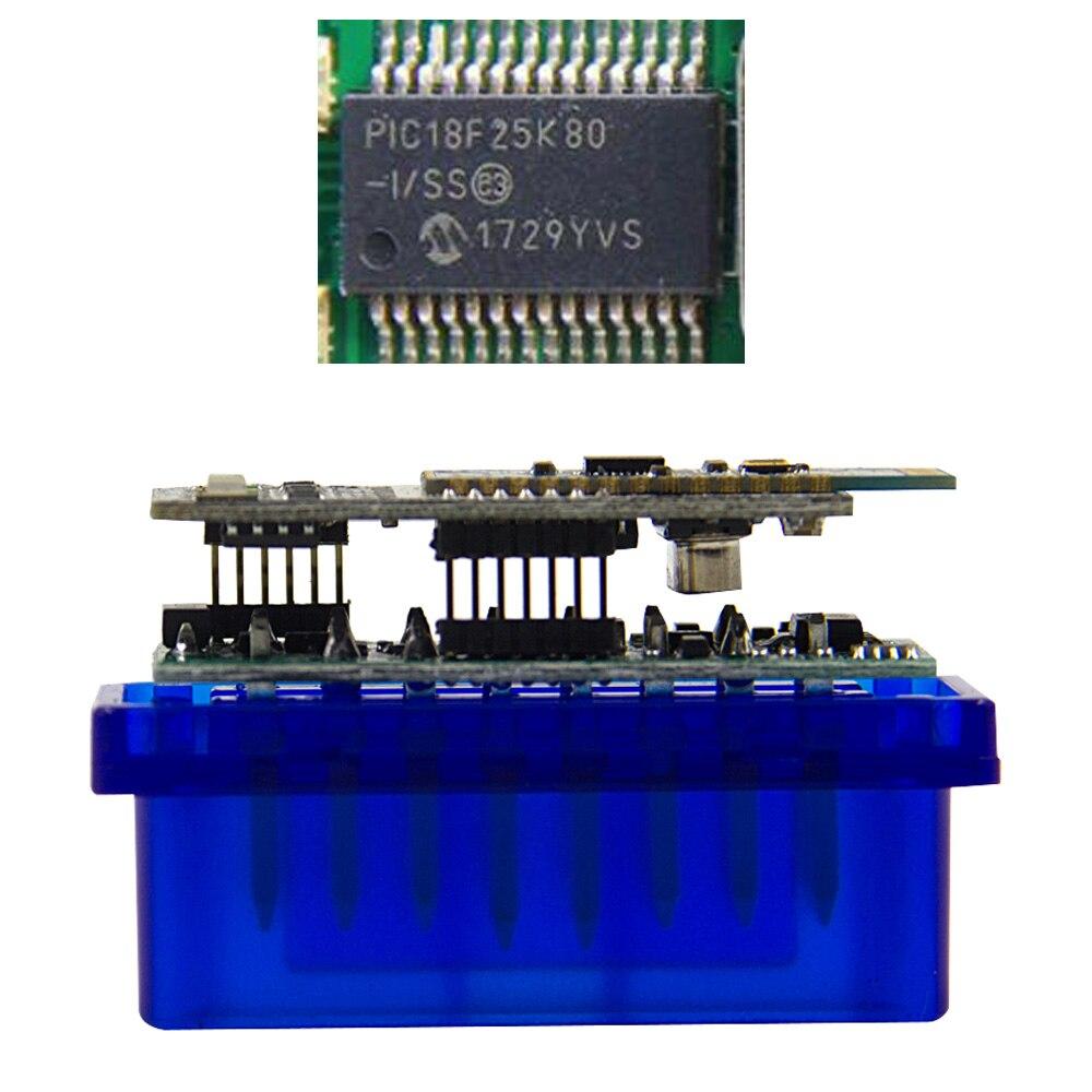 MINI ELM327 V1 5 PIC18F25K80 Bluetooth OBD2 Scanner Diagnostic adapter ELM 327 v1 5 OBD OBDII MINI ELM327 V1.5 PIC18F25K80 Bluetooth OBD2 Scanner Diagnostic adapter ELM 327 v1.5 OBD OBDII Code reader scan-tool For ATAL