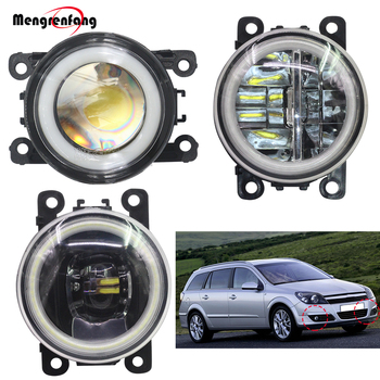 2 X Car Accessories Fog light LED Halo Ring Angel Eye DRL Daytime Running Lamp H11 12V For Opel Astra G H 1998-2010 image