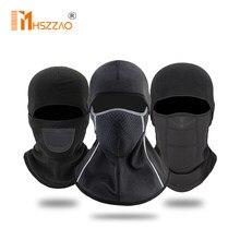 Hiver moto couvre-chef coiffe de tête chaud Ski moto cyclisme protection visage masque casque casquette coupe-vent polaire cagoule chapeau