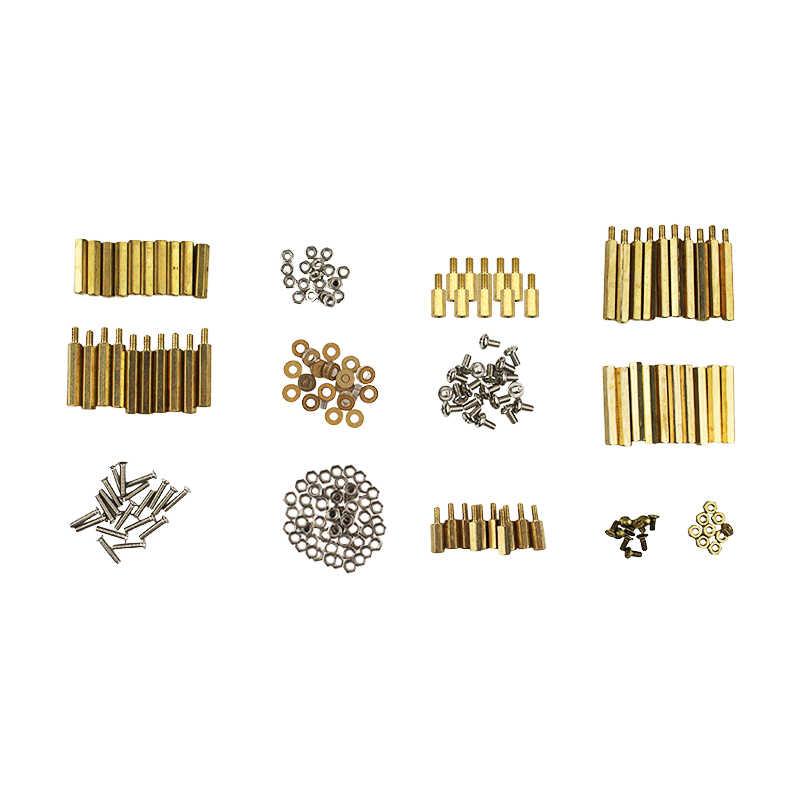 Screws Kit For Arduino//Raspberry Pi 210pcs Screws Set Kit Copper Column Screw