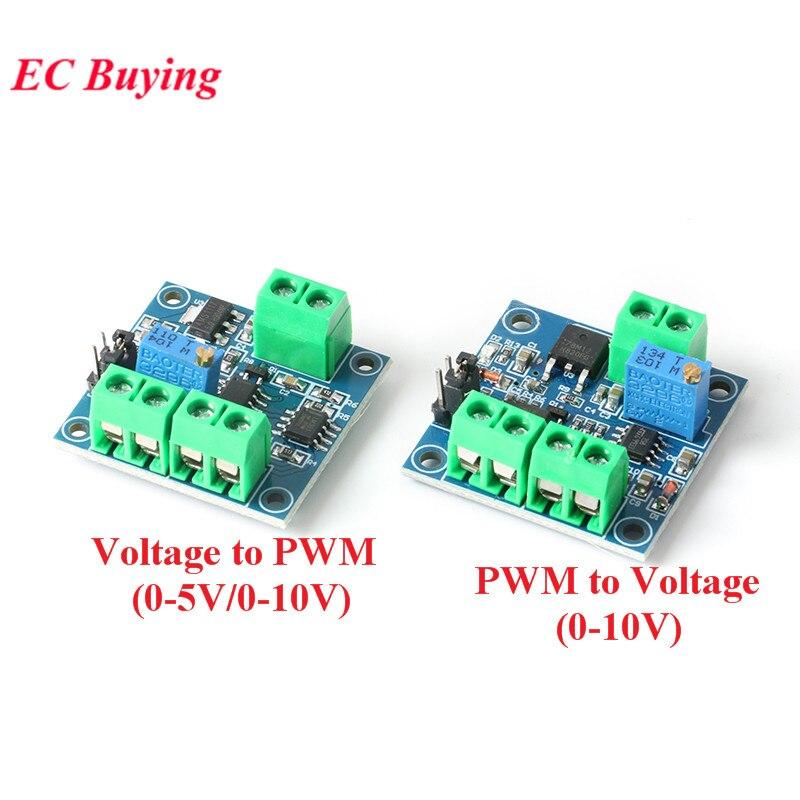 Модуль преобразователя Напряжения в ШИМ 0%-100% в 0-5 в 0-10 в цифровой в аналоговый сигнал ШИМ Регулируемый силовой модуль