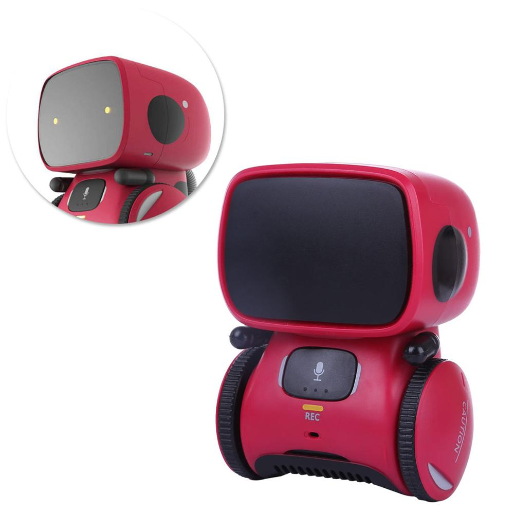 Kids Intelligent Robot Dance Music Recording Dialogue Touch-Sensitive Control Interactive Toy Smart Robotic Gift for Kids