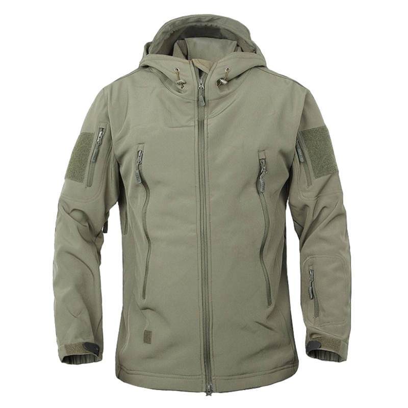 Men Outdoor Waterproof Softshell Jacket Hunting Windbreaker Ski Coat Hiking Camping Fishing Outerwear