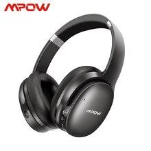 Mpow h10 능동형 소음 차단 bluetooth 무선 헤드폰 18 25 h 재생 시간 anc 헤드셋 (iphone 용 마이크 포함) huawei xiaomi