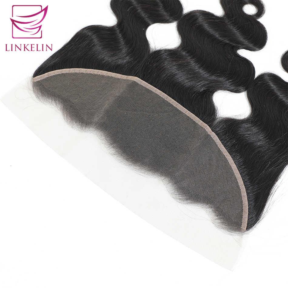 LINKELIN, cabello brasileño ondulado, cierre Frontal de encaje, 13*4, cierre de oreja a oreja, 130%, cabello Remy de destino, envío gratis