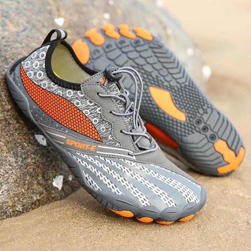 2021 Новый Для мужчин Быстросохнущие кроссовки Quick Dry Женская пляжная обувь Для мужчин дышащие кроссовки босиком воды выше обувь для плавания ...