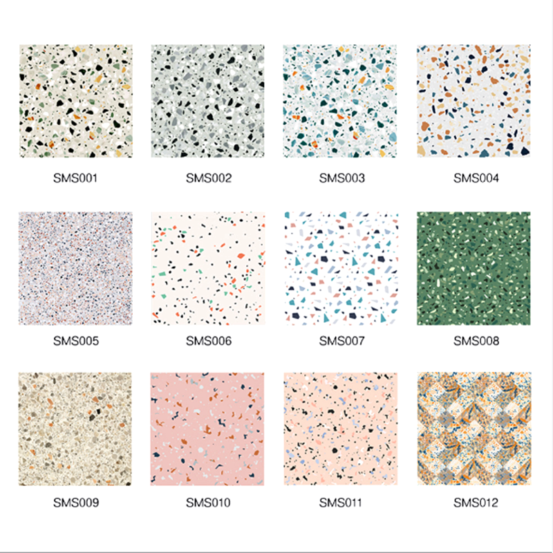 Marble Terrazzo PVC Floor Stickers Self Adhesive Waterproof Non-slip Ground Contact Paper DIY Renovation Decals Wall Floor Decor