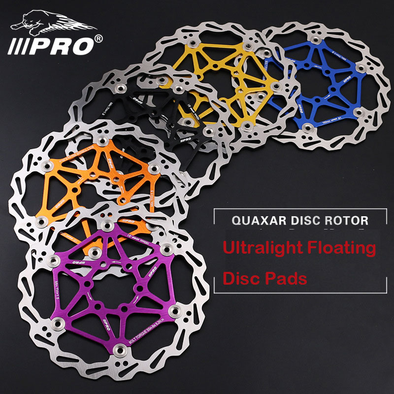 IIIPRO Bike Disc Brake Rotors DH Ultralight Floating Disc Pads 160mm 180mm 203mm 6/7/8 Inches for MTB Bicycle Parts Component