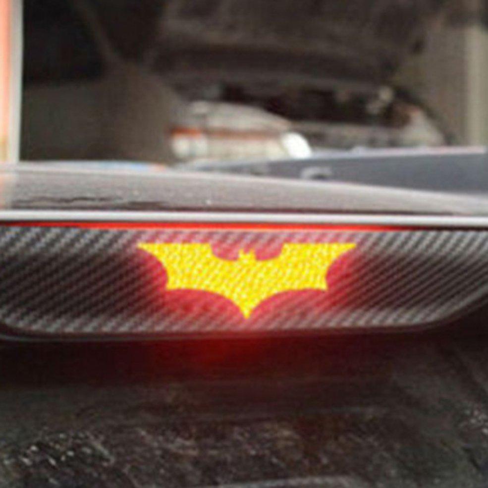 3D Carbon Fiber Brake Tail Light Stickers Batman Stickers Black Knight Stereo Car Stickers Universal Models