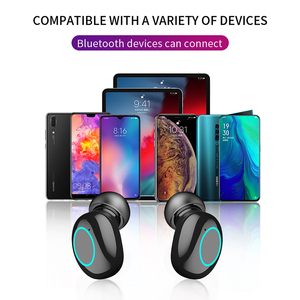 Image 3 - HBQ TWS Bluetooth Earphone Touch Control Mini Earbud With Mic LED Power Display Charge Box Wireless 3D Stereo Music Play Headset