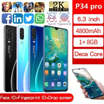 P34pro Smart Android Mobile Phone1+ 8g Quad-core New Hot Selling Mobile Phone