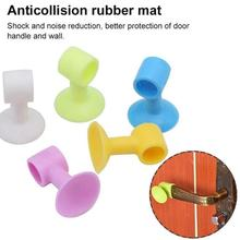 Handle Silicone Bracket As a Shock-Absorbing Door Stopper, C