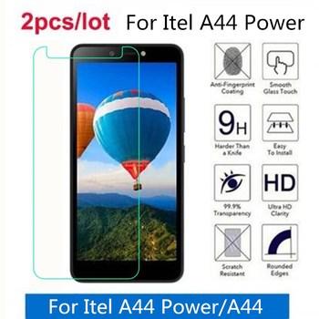 Перейти на Алиэкспресс и купить Закаленное стекло для Itel A44 power 2.5D Премиум Защитная пленка для экрана для Itel A44 защитная пленка, стекло