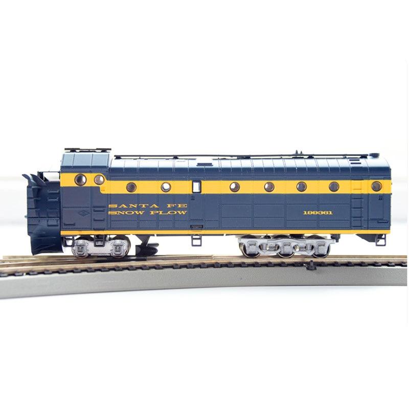 HO 1:87 Train Model Alloy Wheels Blue Snowplow Toys For Boys