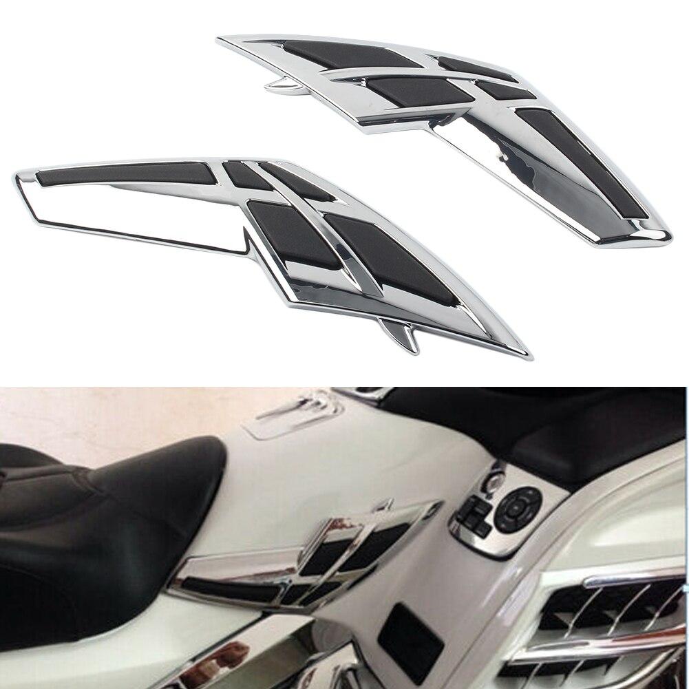 Комплект из 2 предметов мотоцикл хром обтекатель бака Накладка для Honda Goldwing GL 1800 2001 2002 2003 2004 2005 2006 2007 2008 2009 2010 2011 из АБС пластика