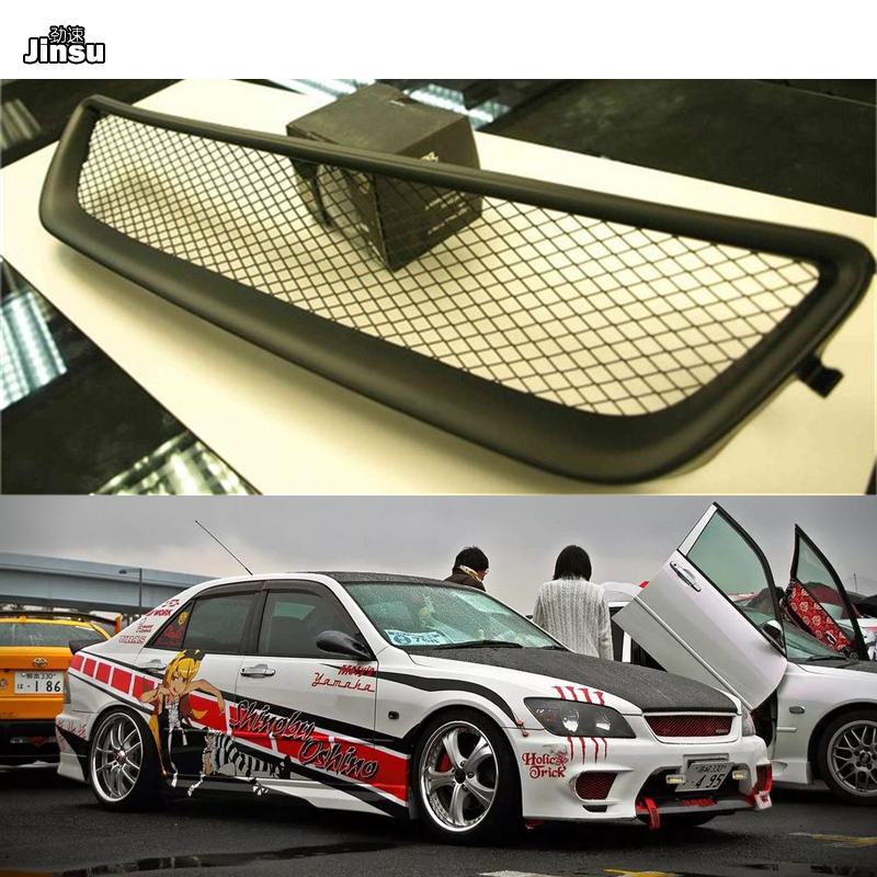 No logo Fiber glass Front bumper grille For Lexus IS200 IS300 For Toyota Altezza AS200 AS300 <font><b>RS200</b></font> FRP matte black primer grill image