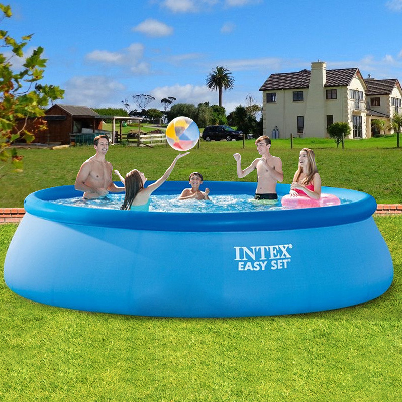Intex Large Family Swimming Pool Inflatable Adult Pool Heightening Thickened Children's Play Pool Folding Fish Pool