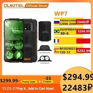 OUKITEL WP7 Smartphone 8000mAh 6.53'' Infrared Night Vision Rugged Mobie Phone 8GB 128GB Octa Core 48MP Triple Cameras Phone