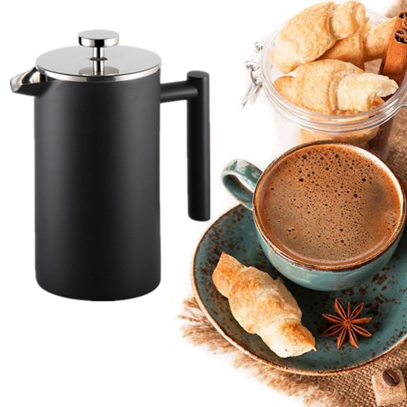 Stainless Steel French Press Coffee Pot Filter Pressure Moka Coffee Percolator Pressure Pot Coffee Maker Teapot 350Ml
