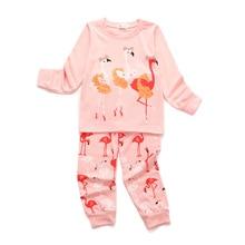 Children's Long Sleeve Pajamas Set Cartoon Printed Firebird pyjamas 2 Piece Set Fashion Pink Baby Girl Pajamas bottoms PJ suit random printed pajamas suit in camel
