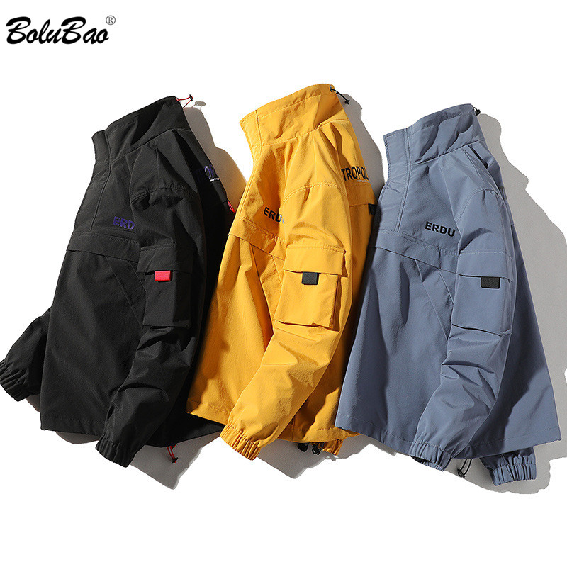 BOLUBAO Brand Men's Jackets Spring Youth Fashion Jacket Male High Quality Comfortable Stitching Tooling Style Jackets Men