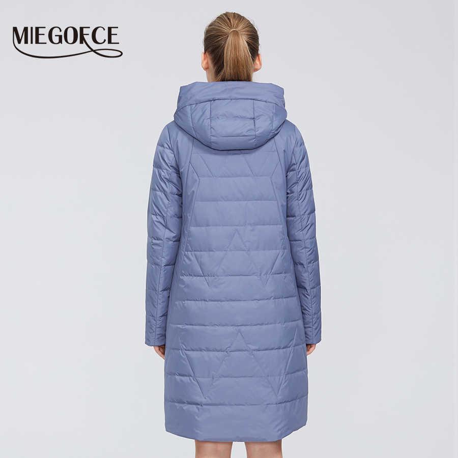MIEGOFCE 2020 ออกแบบใหม่ฤดูใบไม้ผลิเสื้อผู้หญิงWindproofอบอุ่นหญิงParkaยุโรปและอเมริกาหญิงรุ่นผู้หญิงเสื้อ