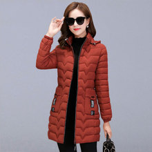 Winter Warm Long Jackets Coats Women New Fashion Hooded Slim