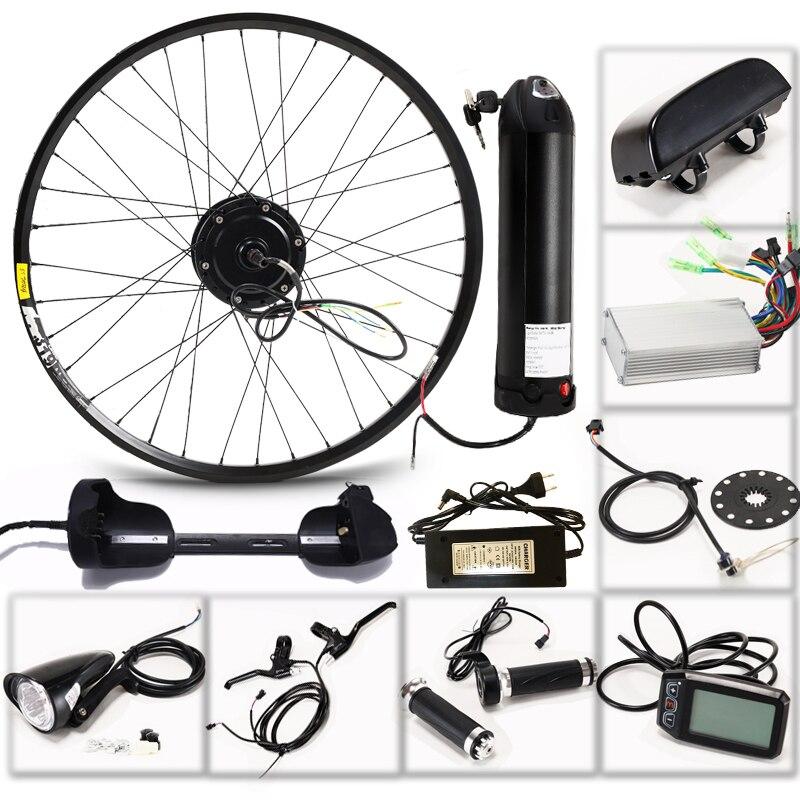Moteur de moyeu de vélo électrique kit de conversion ebike 27.5 moteur de vélo 36V 350W 10AH batterie roue arrière moteur de VTT vtt