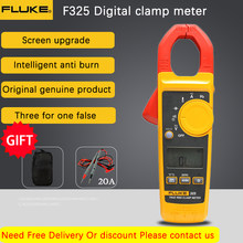 Fluke 325 True-RMS Clamp Meter AC DC Current and Voltage Tester Resistor Capacitance Frequency Temperature Multimeter