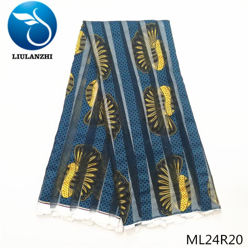 LIULANZHI dernière conception imprime Tissu ruban Tissu robe africaine couture Tissu 5 yards 2019 ruban Tissu ML24R16-31