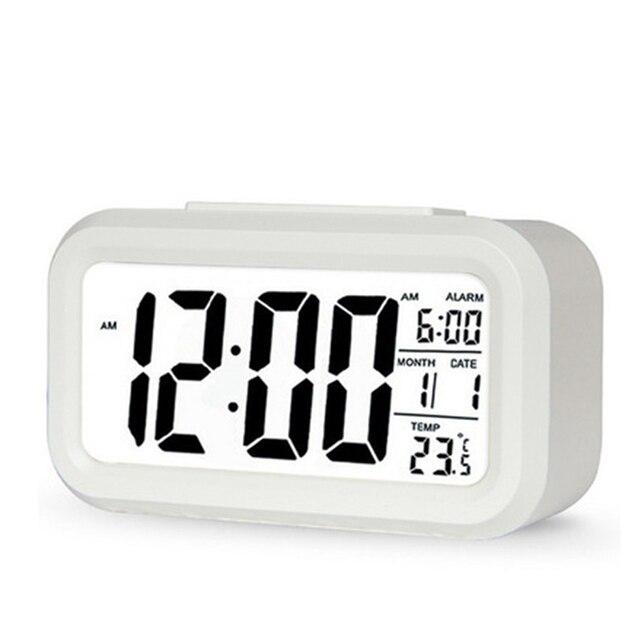 Hot sale LED Digital Alarm Clock Backlight Snooze Mute Calendar Desktop Electronic Bcaklight Table clocks Desktop clock 3