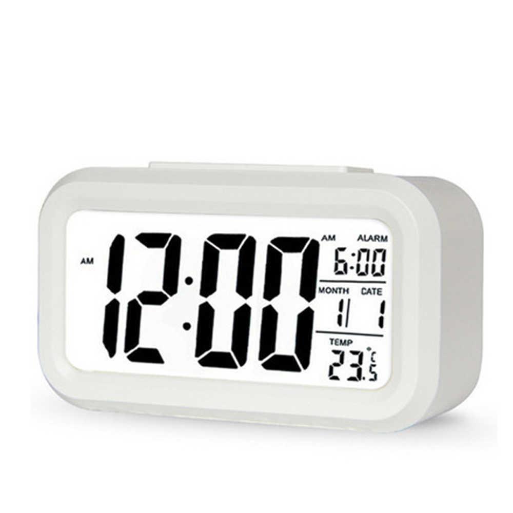 מכירה לוהטת led דיגיטלי שעון מעורר תאורה אחורית נודניק אילם לוח שנה שולחני אלקטרוני Bcaklight שעוני שולחן שולחן עבודה שעון