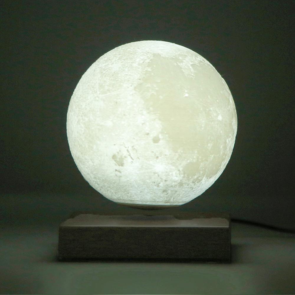 Levitazione Magnetica Ha Portato Luna di Notte Lampada Creativa di Controllo Touch 3D Stampa Illuminazione Decorativa di San Valentino Regalo di Compleanno - 2