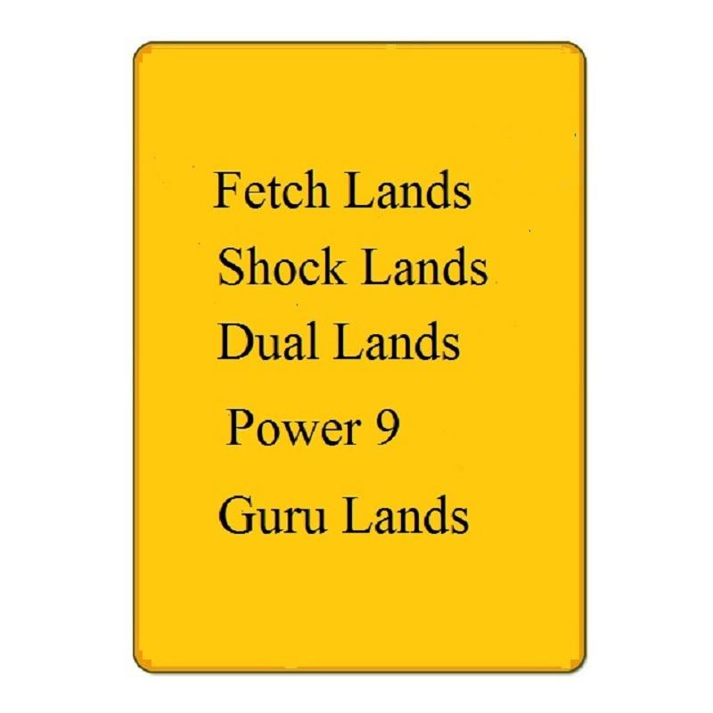 Magical Trading Cards Hologram Foil Paper Black Lotus, Gathering Card, Fetch Lands,dual Lands,power 9 Shock Lands MGT Proxy