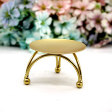 1pc Iron Candle Holder Round Table Golden Candlestick for Party Wedding Ornament Desktop decoration Metal Atmosphere Decor