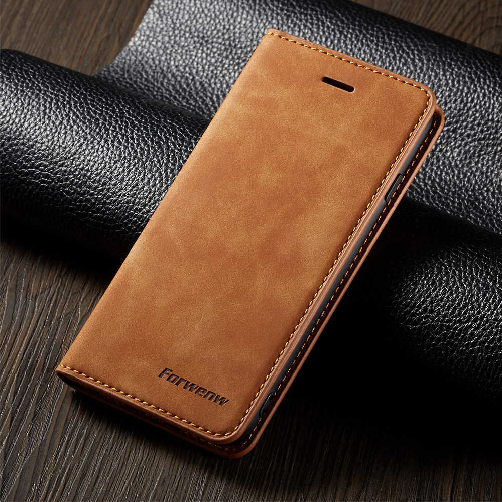 Leather Wallet Case Voor Iphone 6 6S 7 8 Plus X Xs Max Xr 11 Pro Max 5 5S Se 2020 7 Plus 8 Plus 6 Plus Kaartsleuf Flip Cover Boekenkast
