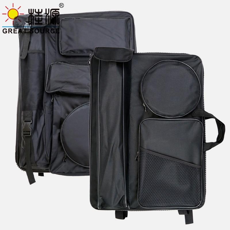 Drawing Tool Storage Bag Multi-Function 4K Drawing Folder Bag With HandleOxford Fbric Artist Outdoor Drawing Mate Back Bag(2PCS)