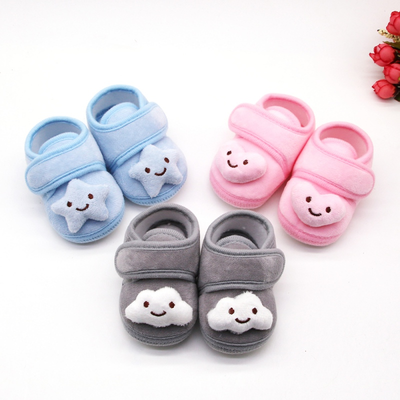 Newborn Baby Girls Shoes Cotton Infant Prewalker Toddler Girls Kid Bowknot Soft Sole Anti-Slip Crib Bebe First Walkers 0-18M