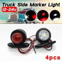 4шт 12V / 24V привело боковые габаритные фонари задние фонари автомобиля внешнее предупреждение хвост света авто грузовик прицеп грузовик лампы белый/красный