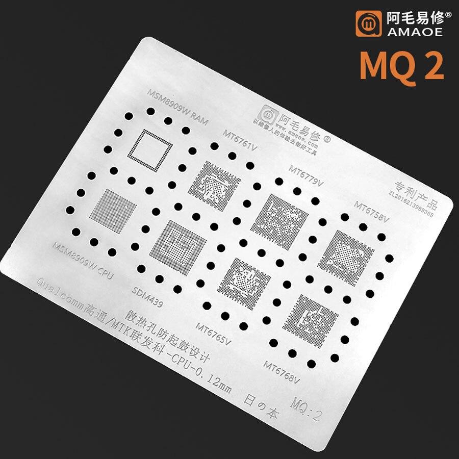 Amaoe BGA Reballing Stencil FOR Qualcomm MT6779V MT6768V MT6758V MT6761V MT6165V SDM439 MSM8909W CPU Chip BGA IC Reballing Tin 1