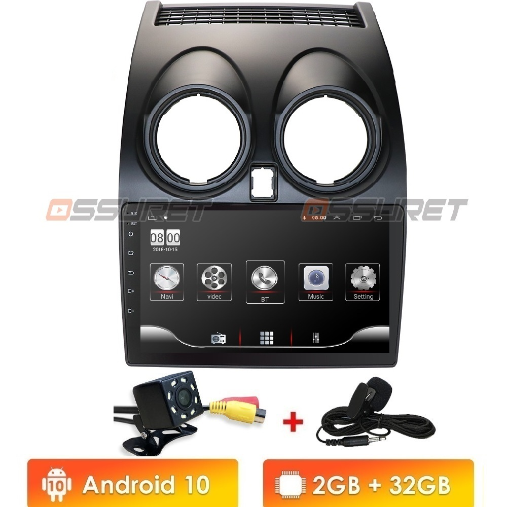 New! Android 10 HD1080P 2.5D CarPlay Car Radio Multimidia Video Player GPS For Nissan Qashqai 1 J10 2006-2013 2 Din No Dvd WIFI