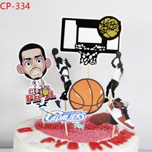 Basketball Hoop Cake Topper Kids Birthday Man Basketball set CupcakeToppers Flags Cake Baking Baby Shower Party Wedding Decor(China)